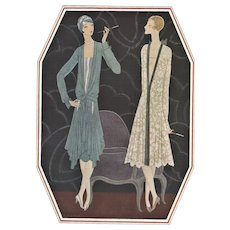 French Art Deco Lanvin fashion print