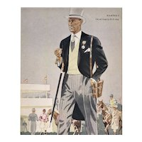 Mid-Century Men's Vintage Fashion for Day at the Races
