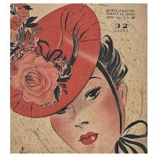 1941 Vintage Print-Fashion Magazine Cover-CHIC woman
