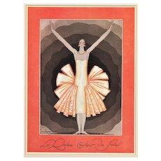 Fabulous French Art Deco Vintage Fashion Print