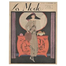 Vintage Art Deco 1922 Fashion Print