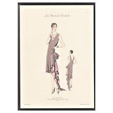 1920s French Art Deco Haute Couture Fashion Print