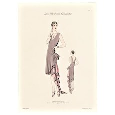1920s Vintage French Art Deco Couture Fashion Print
