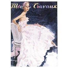 Matted 1949 Elegant Dior Dress Fashion Design Print