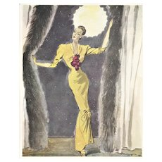 Matted Mid-Century French Fashion Design by Pierre Morgue