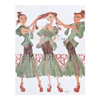 Matted FUN Dior Fashion Print by R Toledo