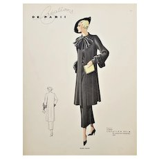 Vintage Art Deco French Fashion Design