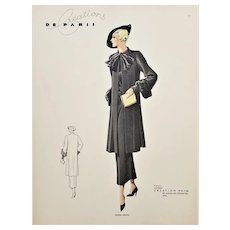Vintage Art Deco French Fashion Design