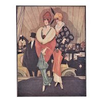 Matted French Art Deco Fashion Print