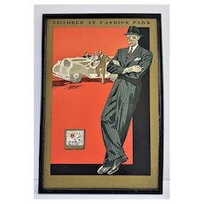 c1930s Art Deco Men's Tailoring Fashion Print