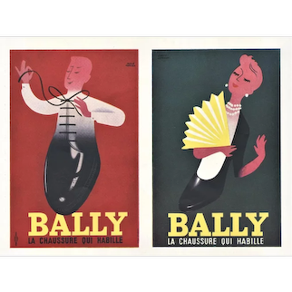 FUN 1954 Mid-Century French Advertisement Print-Bally Shoes