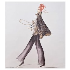 1993 Valentino Italian Fashion Print, Matted