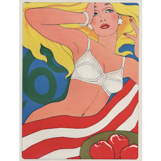 1969 Matted French Lingerie Advertisement Print by Antonio Lopez