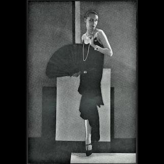 Matted 1928 Art Deco CHANEL Fashion Photograph Print-Steichen