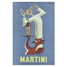 Matted Mid-Century Alcohol Martini Advertisement Print
