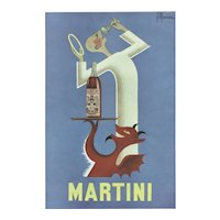 Matted Mid-Century Alcohol Martini Advertisement Print