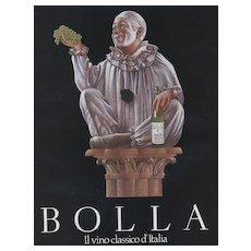 Matted Vintage Italian WIne Advertising Print