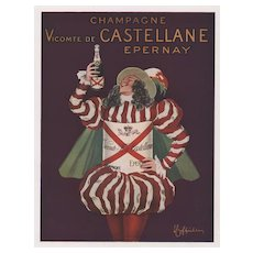 Matted French Advertisement Print for Champagne-Cappiello