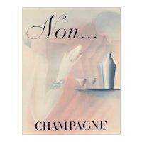 Matted 1932 Art Deco Champagne Print-Paul Iribe