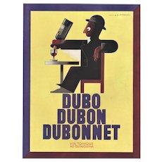 Matted 1935 Art Deco Dubonnet Alcohol Print-A.M. Cassandre