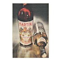 1959 Mid-Century French Martini Alcohol Advertising Print