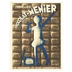 1933 Art Deco French Chocolate Advertisement Print