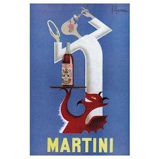 Mid-Century French Alcohol Print-Martini