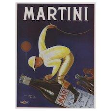 Original Vintage French Martini Alcohol Advertisement Print