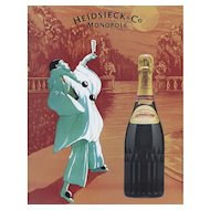 Original Vintage French Champagne Print