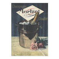 Matted Mid-Century Vintage French Champagne print