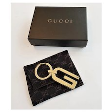 Vintage Gucci Key Ring with pouch,box