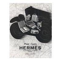Matted Vintage Art Deco Hermes Print -Travel by Car
