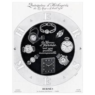 Vintage Art Deco Hermes Print for Watches