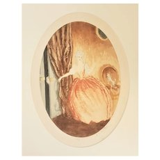 Matted c1900 French Romantic Print