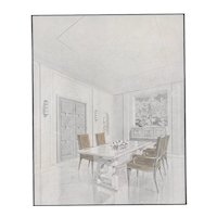 Matted 1940 Modern French Interior Design Lithograph-Dining Room