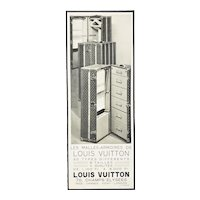 Rare Matted Art Deco Vintage Vuitton Print-Trunks