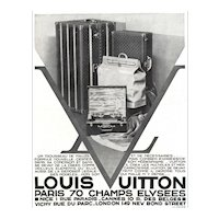 Matted French Art Deco Vuitton Print-trunks, travel