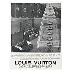Matted Vintage Art Deco Louis Vuitton Print for Travel Needs