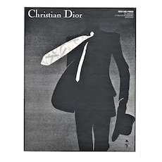 Matted Christian Dior Men's Fashion Suit & Tie Print by Gruau