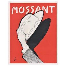 Matted Mid-Century Men's Fashion Hat Print by Gruau