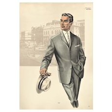Mid-Century Men's Tailoring Fashion Print