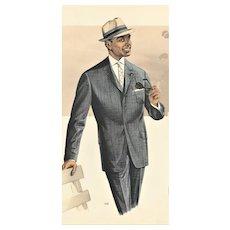 Mid-Century Men's Tailoring Fashion Print
