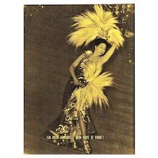 Iconic Mid-Century Josephine Baker Theater Print