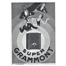 Matted Art Deco Jazz Music Print 1930s