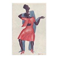 Matted 1932 Jazz Dance Print-Cappiello