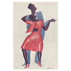 Matted 1932 Jazz Dance Print-Cappiello