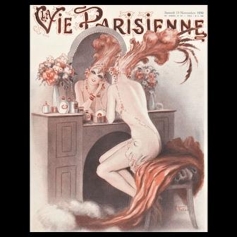 WOW! Vintage Art Deco Cabaret Sexy Semi-Nude Print