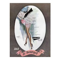 Original Vintage French Lingerie Advertisement Print