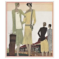 Matted Art Deco Fashion Sport Print-GOLF