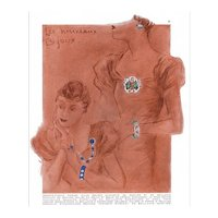 Original French Art Deco print for jewelry by CARTIER